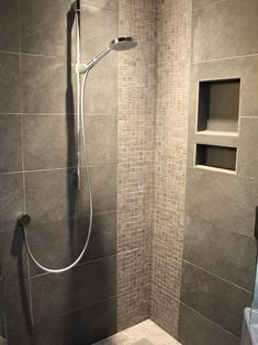 Terrific Tiled Corner Showers Pictures : Breathtaking Modern Bathroom Tiled Corner Showers Tile Pattern And Hansgrohe Shower Head Small Mosa...
