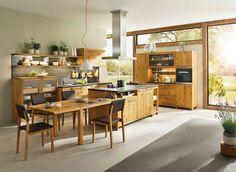 Küchenschrank ahorn ~ Runde küche exklusive küche in kanadischem ahorn mit braunkern