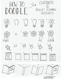 doodle how to draw accents_bujo