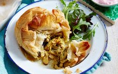 moroccan chicken pie with filo pastry