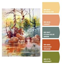 Paint colors from Chip It! by Sherwin-Williams. ChipCard by Reni Apostolova. Colour Pallette, Colour Schemes, Color Combos, Small Cottages, Beautiful Color Combinations, Exterior House Colors, Color Stories, Color Theory, Art Techniques