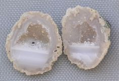 Tabasco Geode 1 Pair Cut and Polished Great for Jewelry 8666