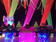 decoraçao festa neon - Pesquisa Google