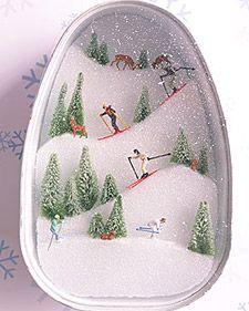 Ski Slopes Diorama