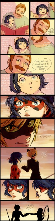 Tom, Marinette, Ladybug and Cat Noir #comic