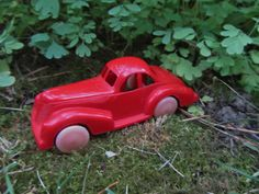 "Vintage Plastic Car Toy Red ""Lapin"" Coupe Nostalgic ""Ford"" Cars Mid Century Molded Vehicle Retro Collectible Miniature Car Gift by WillowValleyVintage on Etsy"
