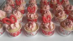 Valentines Amaretto cupcakes!