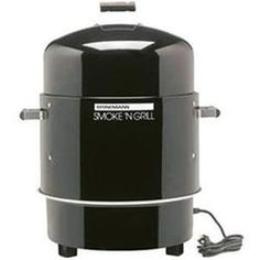 Found it at Wayfair - Smoke 'N Grill Electric Smoker & Grill excellent elect. comes with Lava rocks Electric Smoker Grill, Electric Smoker Reviews, Charcoal Smoker, Best Charcoal Grill, Smoker Recipes, Grilling Recipes, Food Smoker, Grilling Gifts
