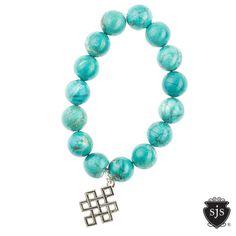 Glitter Bracelets-Turquoise Howlite Celtic Charm  http://www.seejanesparkle.com/shop-designer-bracelets/glitter-bracelets-turq-howlite-celtic-charm
