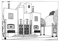 Stunning architectural drawings by Robert Mallet-Stevens 1