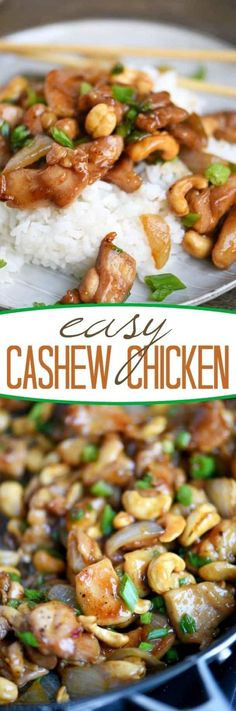 The BEST 30 Minute Meals Recipes – Easy, Quick and Delicious Family Friendly Lunch and Dinner Ideas 30 Minute Easy Cashew Chicken Recipe via Mom on Timeout - Love quick and easy dinner recipes? This Easy Cashew Chicken takes less than Lunch Recipes, Easy Dinner Recipes, Cooking Recipes, Healthy Recipes, Dinner Ideas, Meal Recipes, Cashew Recipes, Clean Eating Recipes For Dinner, Eating Clean