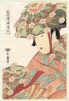 Pictures by Utamaro | Fuji Arts Japanese Prints - Heron Maiden by Utamaro (1750 - 1806)