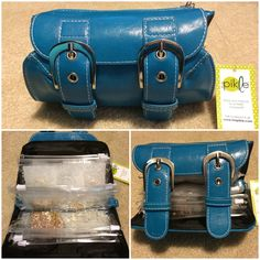 """My on-the-go Origami Owl Jewelry Bar """"In A Pikle"""" holds 12 lockets, 12 chains, plus earrings, dangles and plates! I LOVE this bag!"""