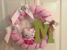 Hello Kitty wreath for baby Morgan!!!