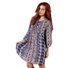 ALE Εμπριμέ έθνικ μίντι φόρεμα 71bb3fecee2