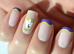 "Disney Nails Beauty & the Beast ""Chip"" :)"