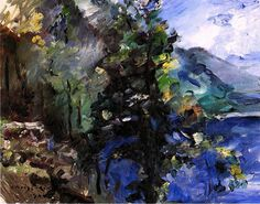The Walchensee with the Slope of the Jochberg Lovis Corinth - 1924