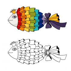 advanced coloring page ribbon fish art therapy cognitive development learn