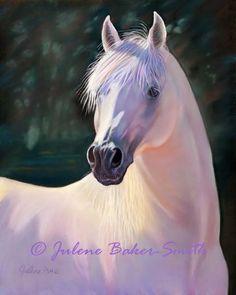 The Boss Proud Stallion horse art print by ArtByJulene