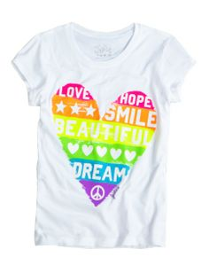 Heart Graphic Tee | Girls Graphic Tees Clothes | Shop Justice