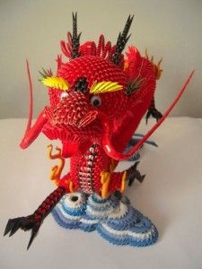 3d origami dragon with stand papercraftcentral net imagination rh pinterest com Baby Dragon Origami Diagram 3d modular origami dragon instructions