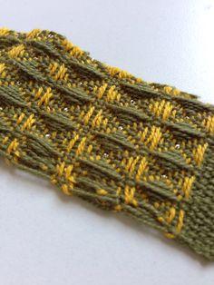 Waffle weave pattern...