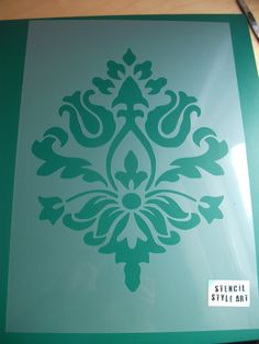Damask wallpaper stencil damask wall décor by IdealStencils