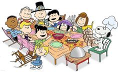 """#HappyThanksgiving everybody! From your pals at The Pete's Basement Show we say: """"Eat! Drink! And when you've eaten and drunken your fills -- EAT AND DRINK SOME MORE!!"""" #Thanksgiving #Thanksgiving2016 #turkey # ######Peanuts #CharlieBrown #PeppermintPattyb#Linus #Lucy #Snoopy #Woodstock #Franklin #Sally #Schroeder #Marcie #CharlesSchulz"""