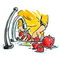 E' importante lavare molto bene frutta e verdura che vengono trattati convenzionalmente, per rimuovere così' gli eventuali residui di pesticidi, ma sono solo...