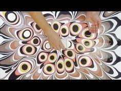 Acrylmalerei Fließtechnik Farben verdünnen, Fluid Acrylic Painting how to thin down paint colors - YouTube
