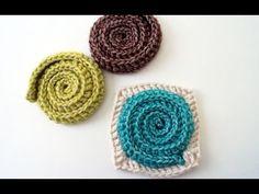 Simple Swirl Embellishment and Motif - B.hooked Crochet