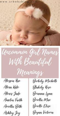 Unusual Baby Girl Names, Baby Girl Names List, Baby Girl Names Uncommon, List Of Girls Names, Beautiful Baby Girl Names, Rare Baby Names, New Baby Names, Unisex Baby Names, Cool Baby Names