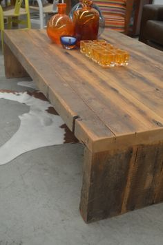 Latte? Long mac? Cappuccino? Soy decaf skinny flat white? Whatever takes your fancy... What takes our fancy is a recycled Baltic pine coffee table at The General Store, Osborne Park