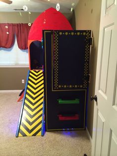 Rocket Ship Toddler Bed