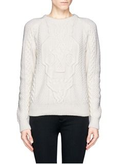 ALEXANDER MCQUEENSkull cable knit sweater