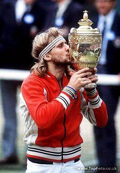 Bjorn Borg 1976, 1977, 1978. 1979, 1980 Wimbledon Champion