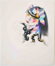 Sayoko immortalised by Antonio Lopez