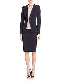 Armani Collezioni - Double Wool Crepe Jersey Blazer