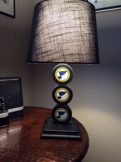 St. Louis Blues Hockey Puck Lamp on Etsy, $65.00