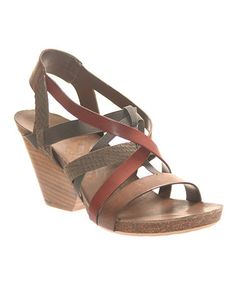 Take a look at this OTBT Dark Brown Ladonia Sandal by OTBT on #zulily today
