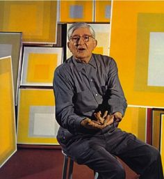 The mighty Josef Albers Artist Life, Artist At Work, Joseph Albers, Bauhaus Art, Victor Vasarely, Art Moderne, Special People, Famous Artists, Art Studios