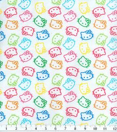 Hello Kitty Fabric! We could make drawstring bags