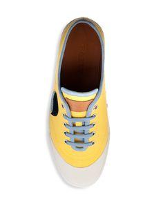 Bally Silio Retro Low-Top Sneakers - Yellow 10.5 D