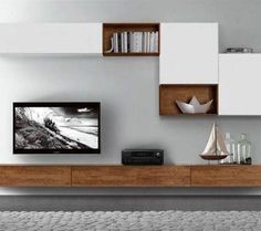 44 Modern TV Stand Designs for Ultimate Home Entertainment Tags: tv stand ideas for small living room, tv stand ideas for bedroom, antique tv stand ideas, awesome tv stand ideas, tv stand ideas creative Living Room Tv Unit, Home Living Room, Living Room Designs, Living Room Decor, Tv Wall Ideas Living Room, Living Area, Tv Wall Design, House Design, Tv Shelf Design