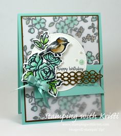 Stampin' Up! Petal Palette card by Kristi @www.stampingwithkristi.com