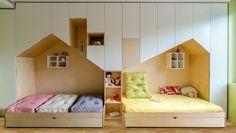 Idea de cómo decorar una habitación infantil para hermanos