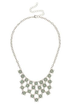 Green Pastel Rhinestone Bib Necklace available at #Maurices