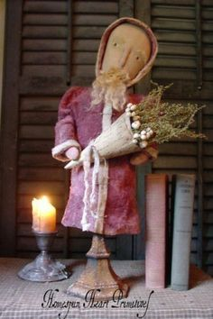 Primitive Folk Santa Make Do Instant Download by homespunheartprim, $7.50