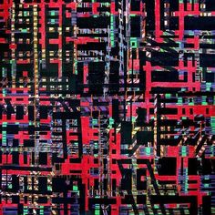 An awesome Virtual Reality pic! detail of one of my paitings... #matrix #grid #cyberpunk #cyberspace #virtualreality #painting #art #acrylic #contemporary #instatale #instamare by _dr_br_ check us out: http://bit.ly/1KyLetq