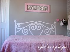 daybed for ashlynn's room! Boy Room, Kids Room, Painted Headboard, Headboard Ideas, Headboards, Decorating Ideas, Decor Ideas, Craft Ideas, Girls Bedroom